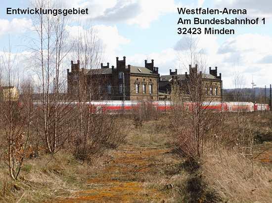 Foto vom Entwicklungsgebiet Am Bundesbahnhof Minden