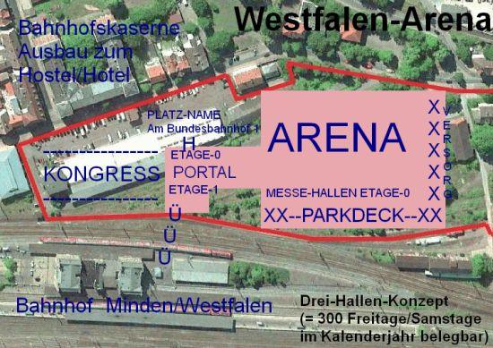 Westfalen-Arena Minden - Grundriss-Plan